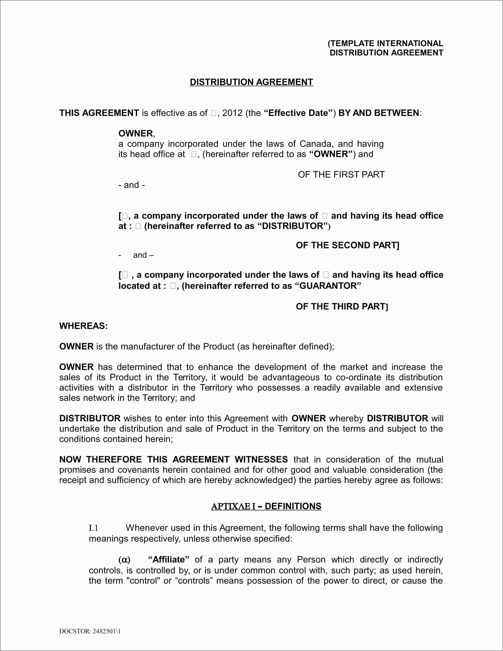 Fresh Reseller Agreement Template Free  Best Of Template Intended For Saas Reseller Agreement Template