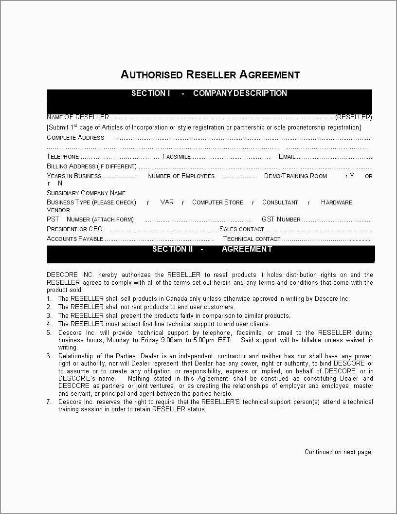 Fresh Reseller Agreement Template Free  Best Of Template With Saas Reseller Agreement Template