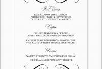Fresh Wedding Menu Template Free Word  Best Of Template throughout Free Wedding Menu Template For Word