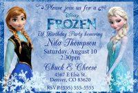 Frozen Birthday Invites Template Excellent Ideas Happy Card throughout Frozen Birthday Card Template