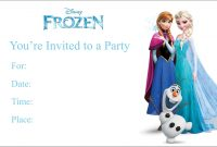 Frozen Free Printable Birthday Party Invitation Personalized Party throughout Frozen Birthday Card Template
