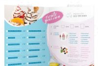 Frozen Yogurt Bifold  Halffold Menu Template Psd Indesign Indd inside Half Fold Menu Template