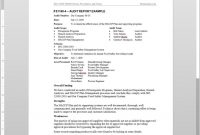 Fsms Audit Report Example Template intended for Template For Audit Report