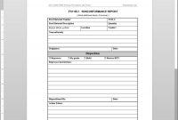 Fsms Nonconformance Report Template in Non Conformance Report Form Template