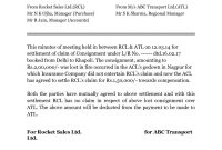 Full And Final Settlement Letter Template Car Accident –  Unique regarding Full And Final Settlement Agreement Template