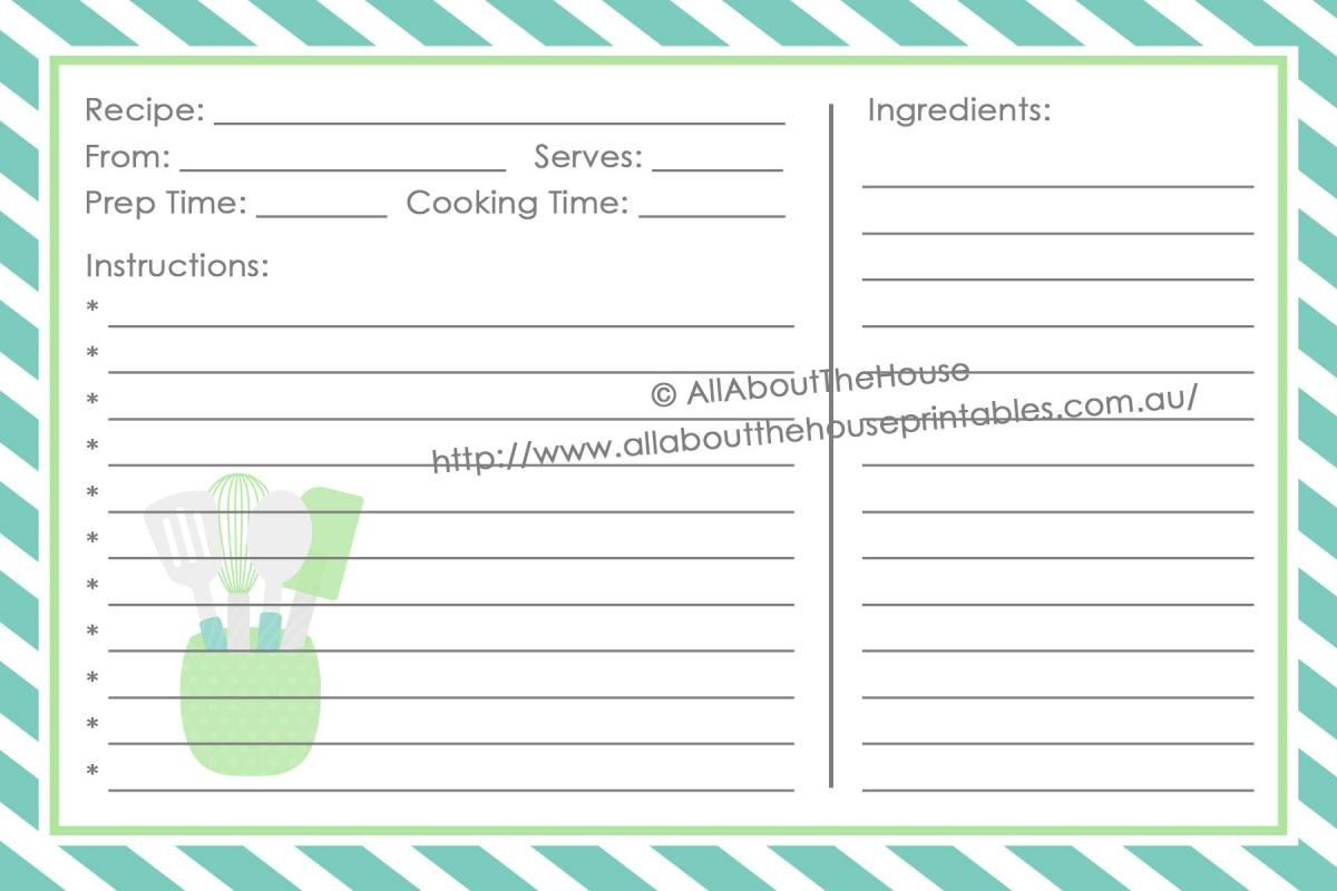 Full Page Recipe Template For Word  Template Business Inside Full Page Recipe Template For Word