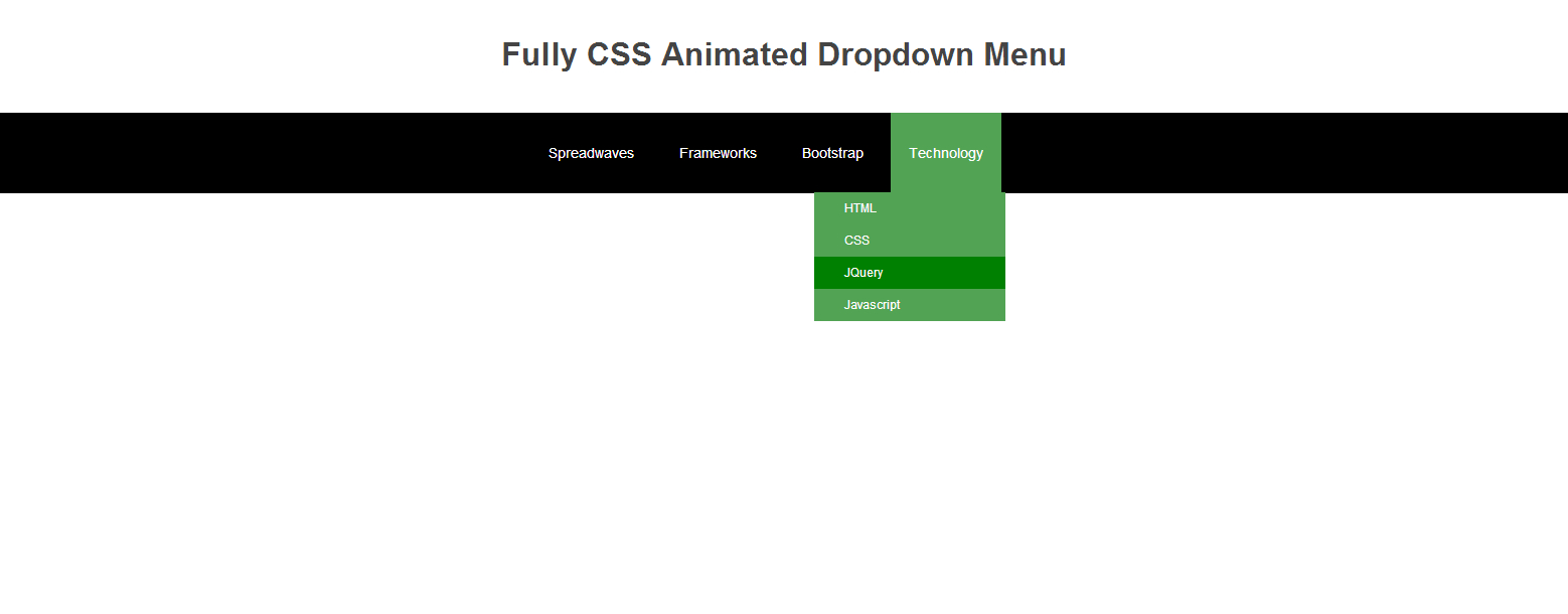 Fully Css Animated Dropdown Menu  Spreadwaves  Spreadwaves Within Drop Down Menu Template Html