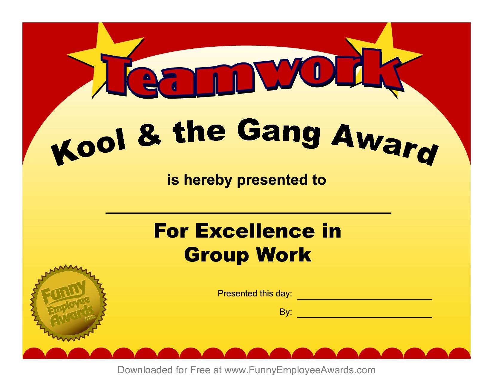 Fun Award Templatefree Employee Award Certificate Templates Pdf Within Fun Certificate Templates