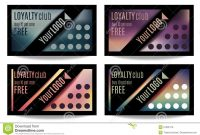 Fun Customer Loyalty Card Templates Stock Vector  Illustration Of throughout Customer Loyalty Card Template Free