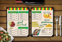 Fun Day Restaurant Menu Psd Template  Effects throughout Fun Menu Templates