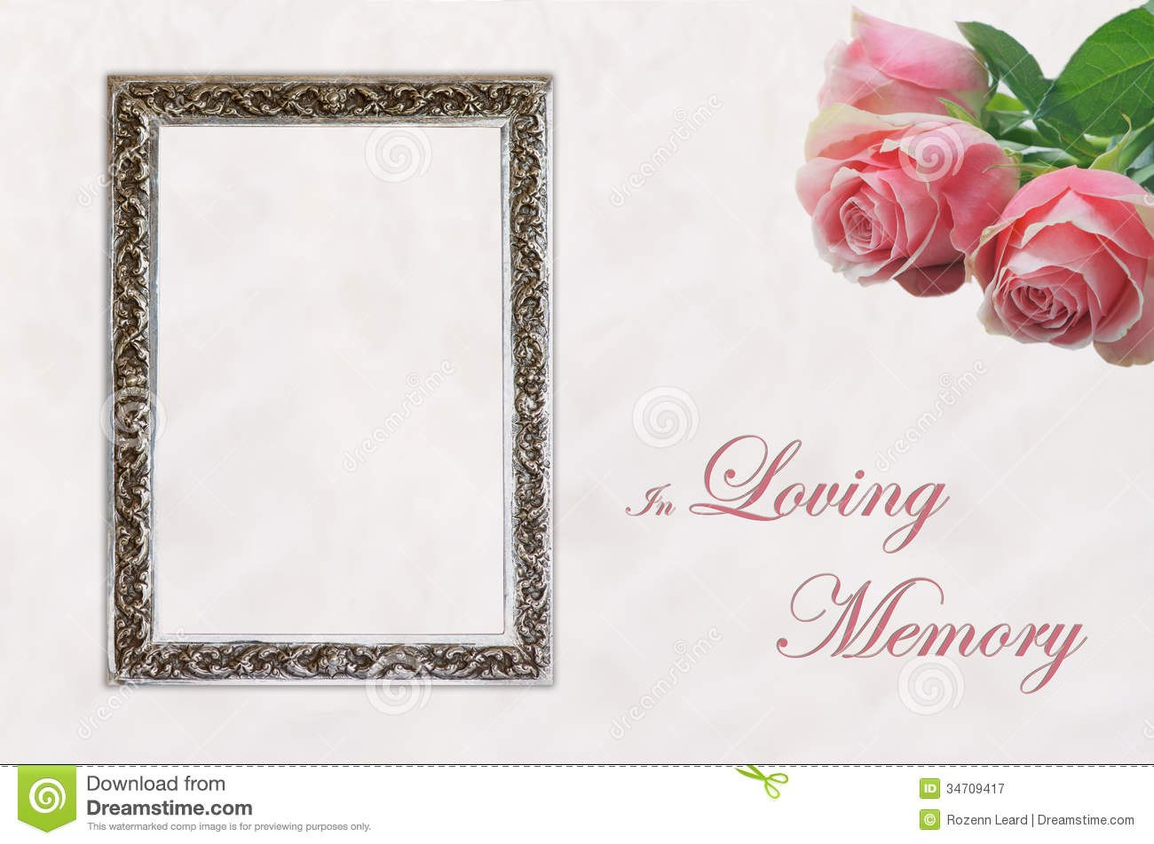 Funeral Eulogy Card Stock Image Image Of Celebration Inside In Memory Cards Templates