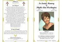 Funeral Program Template Sample Free Loving Memory Templates  Masir pertaining to Memorial Cards For Funeral Template Free