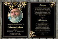 Funeral Program Template  X Funeral Card Template  Memorial with Memorial Card Template Word