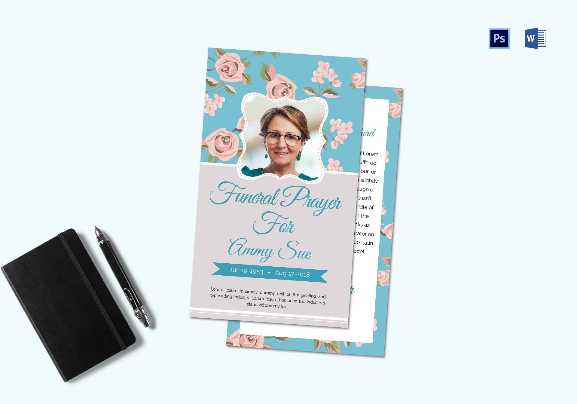 Funeral Request Prayer Card Template In Adobe Photoshop Microsoft Word In Prayer Card Template For Word