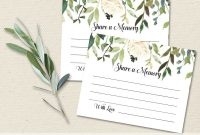 Funeral Share A Memory Card  Printable Funeral Memory Card throughout In Memory Cards Templates