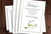 Funeral Thank You Card Template Sympathy Acknowledgement Card for Sympathy Thank You Card Template