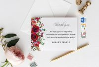 Funeral Thank You Cards Printable Funeral Thank You Notes  Etsy for Sympathy Thank You Card Template