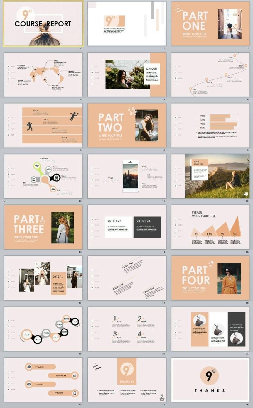 Garment Company Analysis Report Powerpoint Template  Powerpoint Inside Company Analysis Report Template