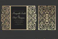 Gate Fold Wedding Invitation  X Cricut Template Quinceanera in Silhouette Cameo Card Templates