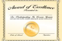 Generic Award Certificate In Vector Format  Trashedgraphics in Generic Certificate Template