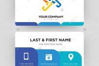 Generic Business Card Design Template Visiting For Your Company for Generic Business Card Template