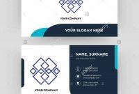 Generic Business Card Design Template Visiting For Your Company in Generic Business Card Template