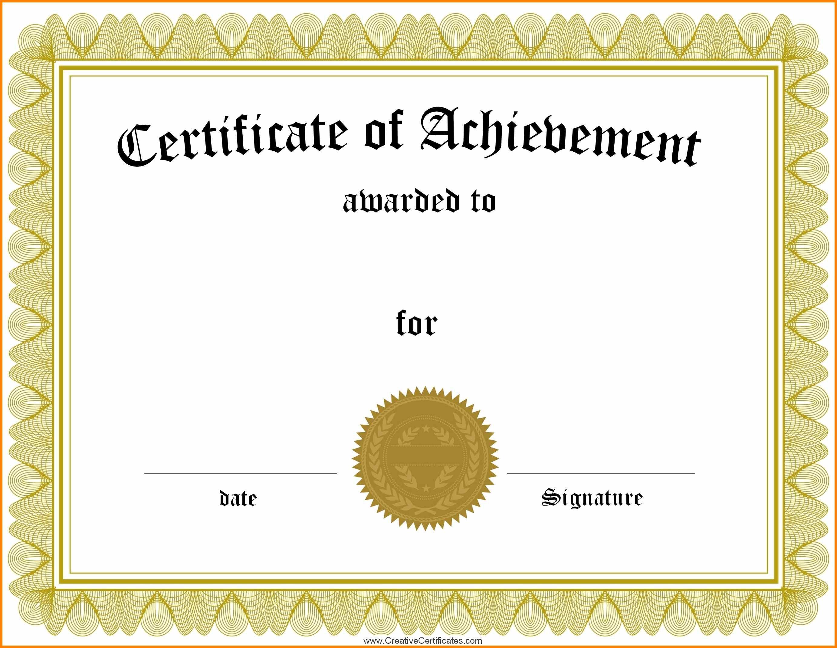 Generic Certificate Template  Sansurabionetassociats Within Mock Certificate Template