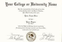 Get Fake Certificatesdiplomas  Transcripts With Real Look In Usa regarding Fake Diploma Certificate Template