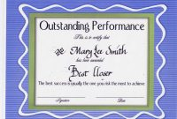 Get New Performance Certificates  Certificate Templates with Best Performance Certificate Template