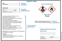 Ghs Hcs Standards Changing Chemical Drum Labels with regard to Ghs Label Template