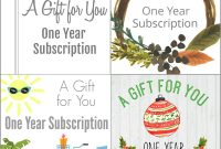 Gift A Magazine Subscription With Our Free Printable Cards inside Magazine Subscription Gift Certificate Template