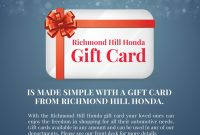 Gift Card  New  Used Honda Dealer  Richmond Hill in Automotive Gift Certificate Template