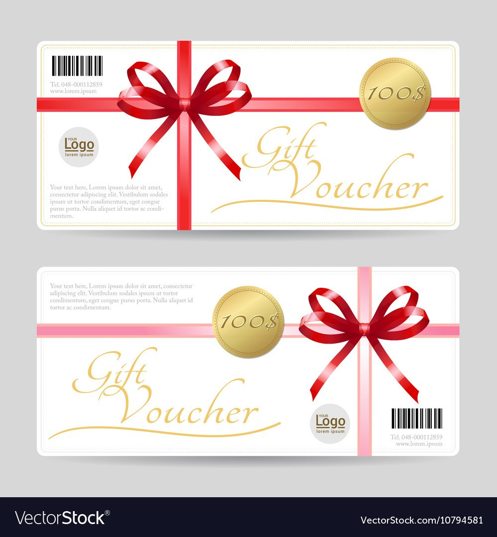 Gift Card Or Gift Voucher Template Royalty Free Vector Image With Regard To Gift Card Template Illustrator