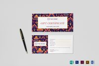 Gift Certificate Design Template In Psd Word Publisher regarding Gift Card Template Illustrator