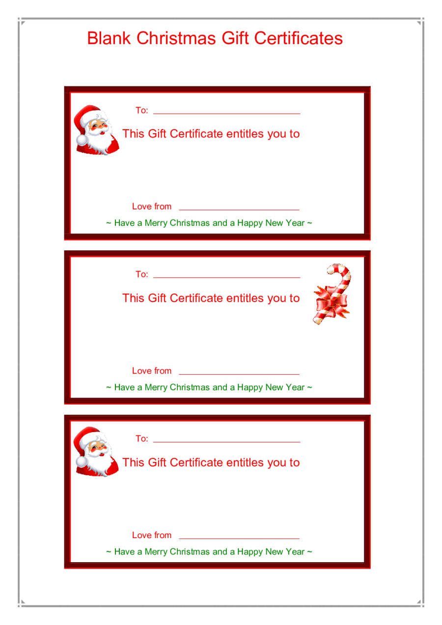 Gift Certificate Form  Fillable Printable Pdf  Forms  Handypdf In Fillable Gift Certificate Template Free