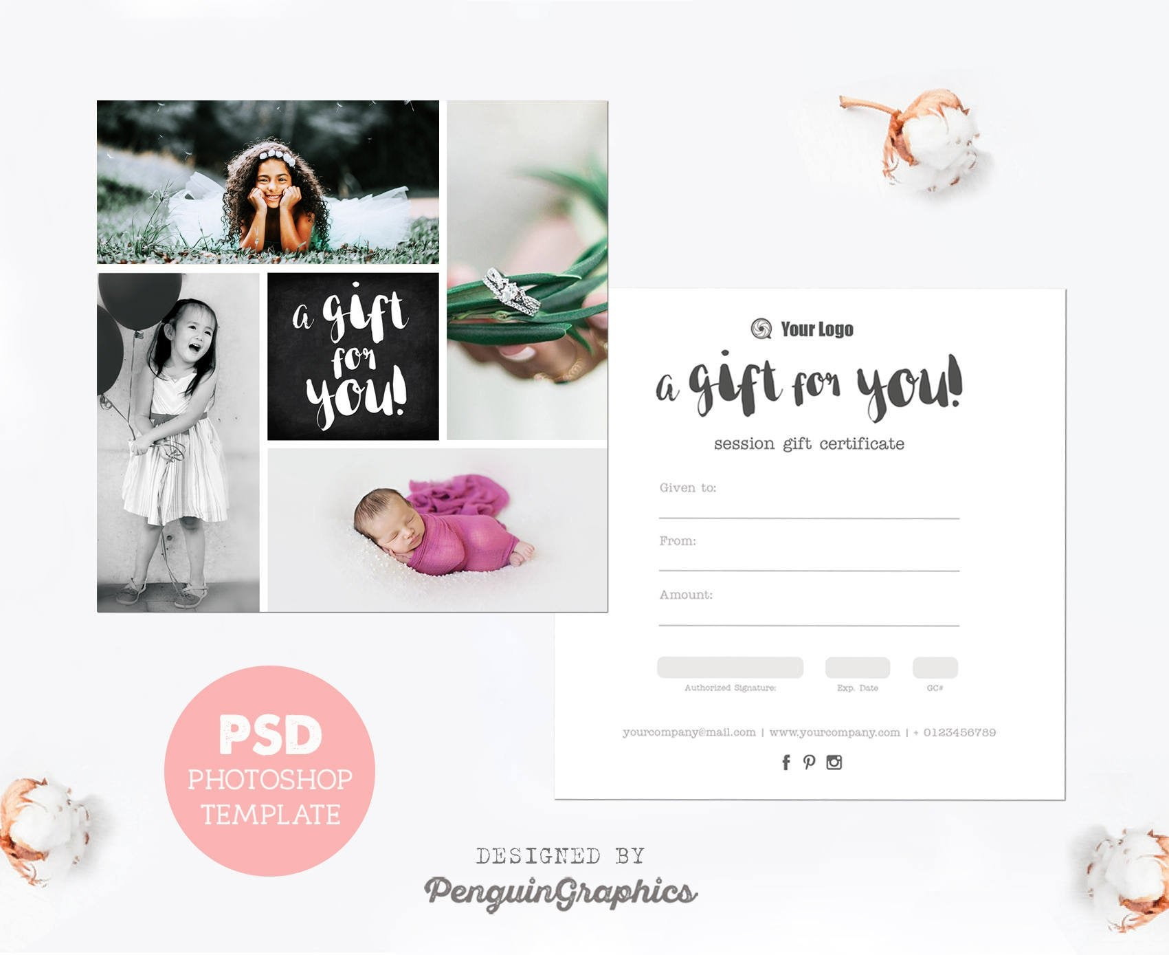 Gift Certificate Template Photography Mini Session Gift Card  Etsy Intended For Photoshoot Gift Certificate Template