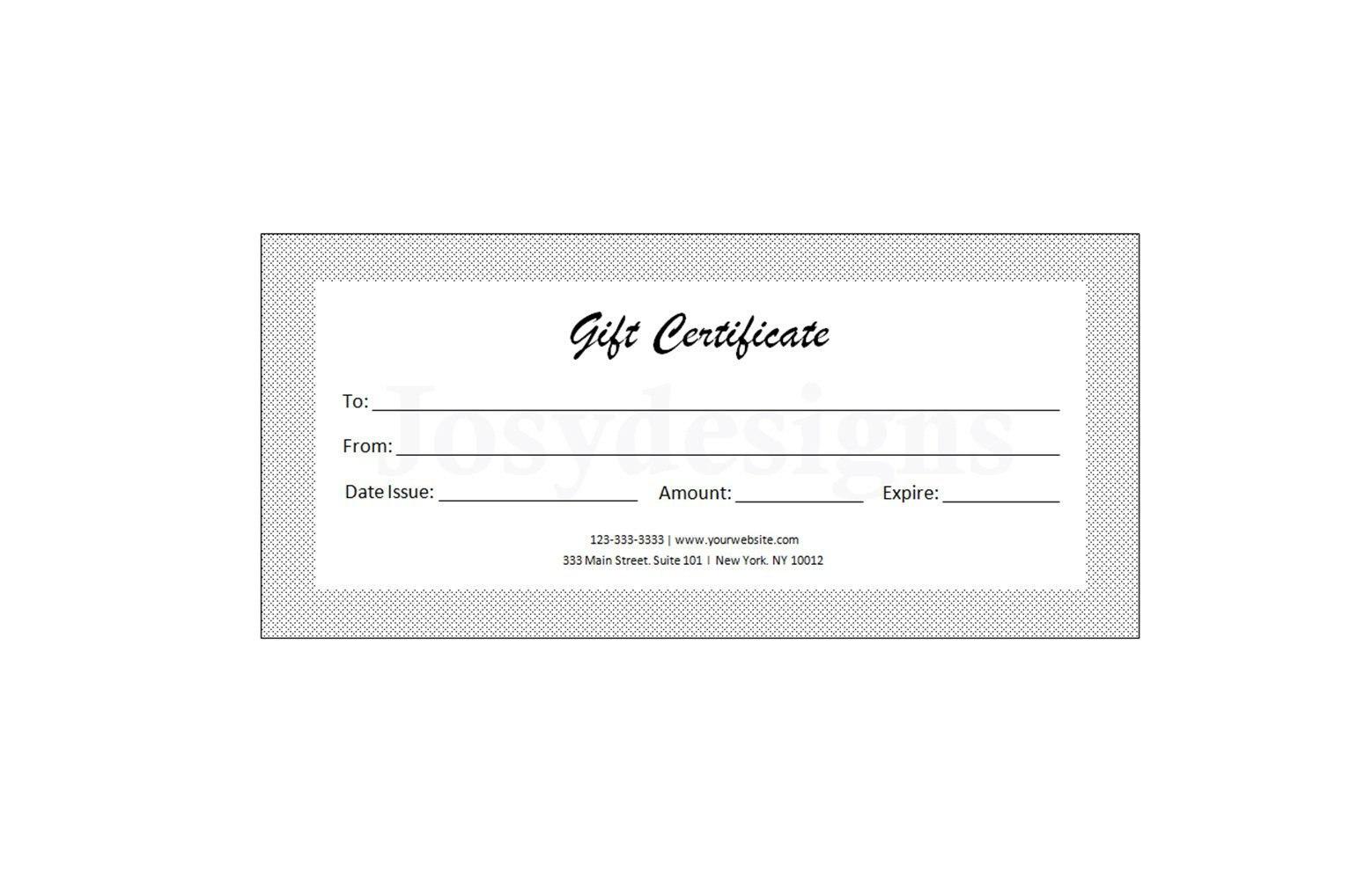 Gift Certificate Template Printable Editable Custom Gift  Etsy Pertaining To Custom Gift Certificate Template