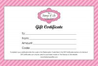 Gift Certificate Templates  Word Excel Formats regarding Printable Gift Certificates Templates Free
