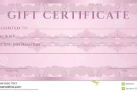 Gift Certificate Voucher Coupon Template Stock Vector inside Pink Gift Certificate Template