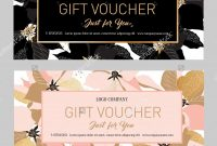 Gift Premium Certificate Gift Card Gift Voucher Coupon Template pertaining to Black And White Gift Certificate Template Free