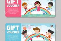 Gift Voucher Template And Modern Pattern Kids Concept Voucher inside Kids Gift Certificate Template