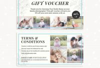 """Gift Voucher Template """"classic Floral""""  Strawberry Kit regarding Gift Certificate Template Photoshop"""