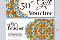Gift Voucher Template Mandala Design Certificate Stock Vector regarding Magazine Subscription Gift Certificate Template