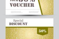 Gift Voucher Template With Mandala Design Vector Image On Vectorstock regarding Magazine Subscription Gift Certificate Template