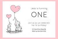 Girls St Birthday Invitation Template  Venngage throughout First Birthday Invitation Card Template