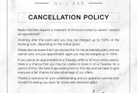 Glasgow's Best Luxury Nail Bar  Nailco Nailbar intended for Salon Cancellation Policy Template