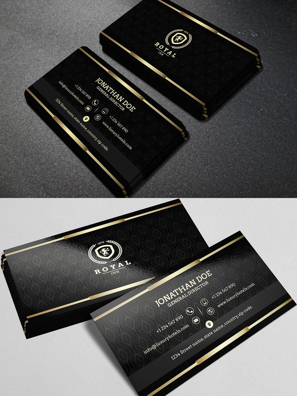 Gold And Black Business Card Template Pdf  Business Card Templates For Call Card Templates