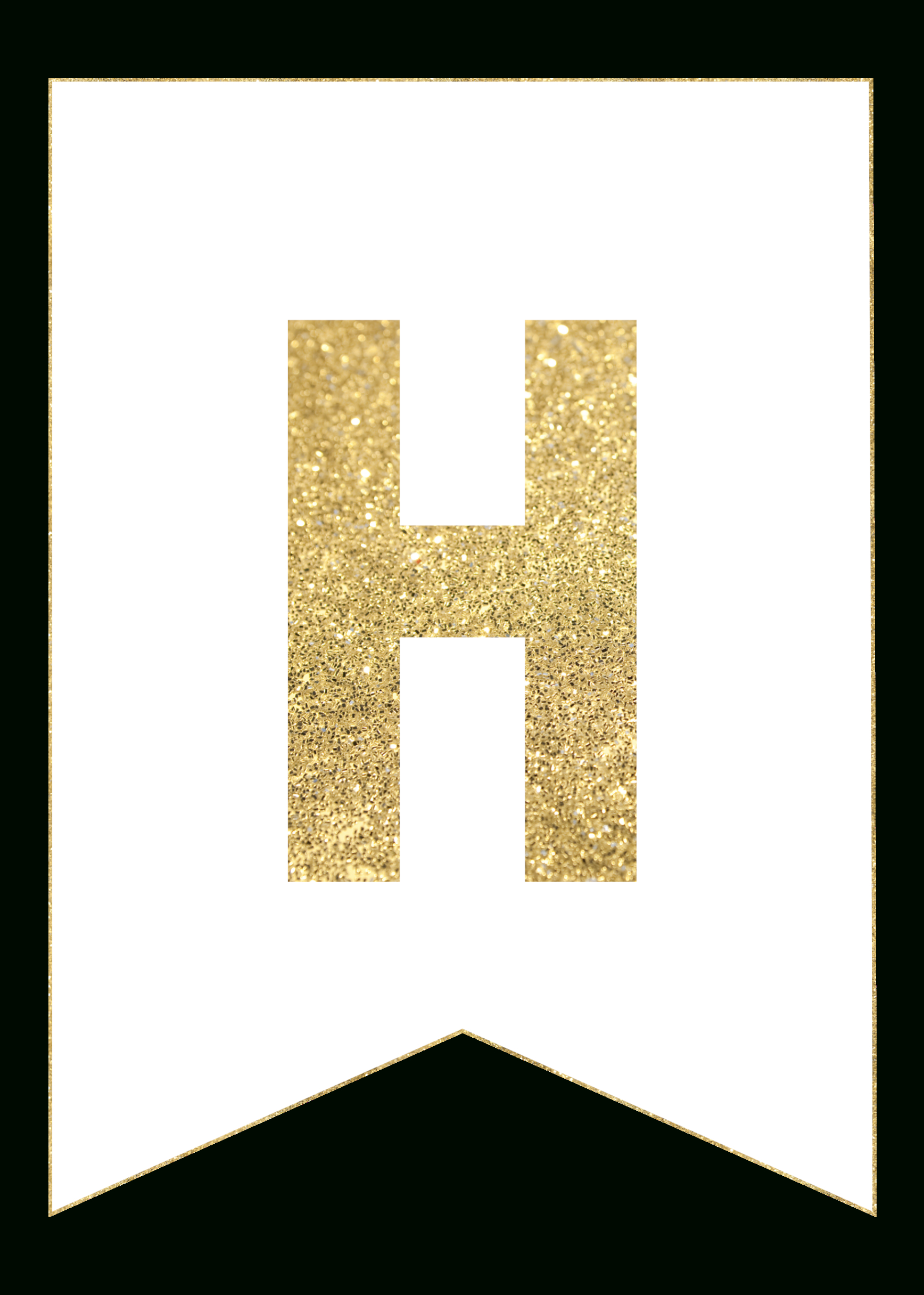 Gold Free Printable Banner Letters  Templates  Free Printable With Regard To Letter Templates For Banners