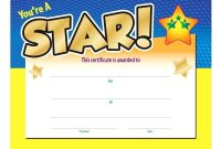 Gold Star Certificate Template – Jovemaprendizclub with Star Certificate Templates Free