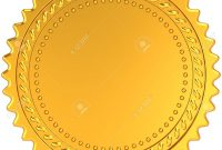 Golden Award Medal Blank Seal Luxury Champion Badge Label in Blank Seal Template
